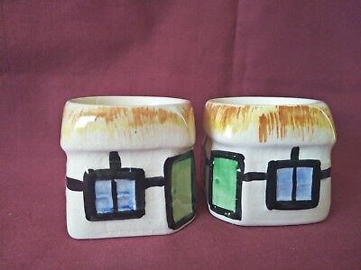 Pair House Egg Cups Ceramic