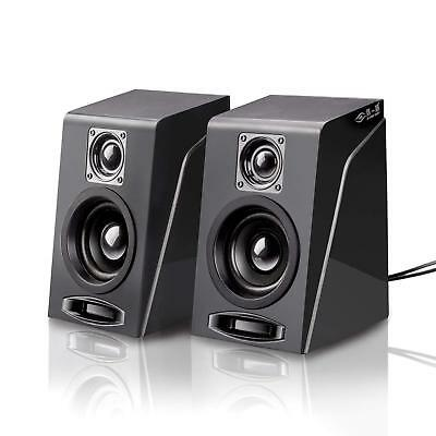 Usb Powered Computer Speakers For PC Desktop Laptop Stereo Sound W/3.5mm Plug
