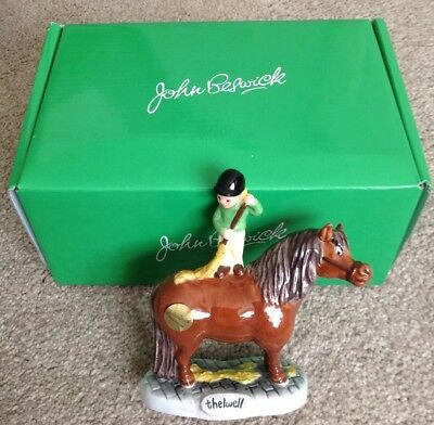 John Beswick Brush Your Pony Ornament. A Fun Item. New and Boxed