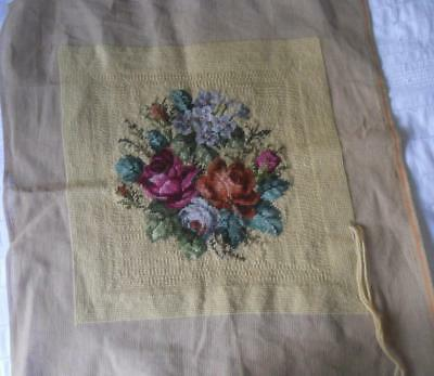 Vintage Roses Tapestry Needs Row Of Background Completing