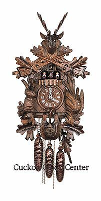Cuckoo Clock 8-day-movement Carved-Style 61 cm Black Forest by Hubert Herr