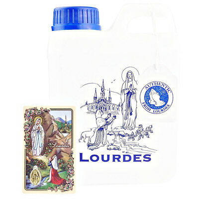 LOURDES HOLY WATER CONTAINER 1L (0,264 GAL) Filled with Authentic Lourdes WATER