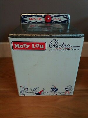 Mary Lou dolls battery operated vintage washer dryer.  made by Chad Valley 1960s