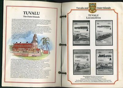 Tuvalu and the outer islands stamp album no stamps