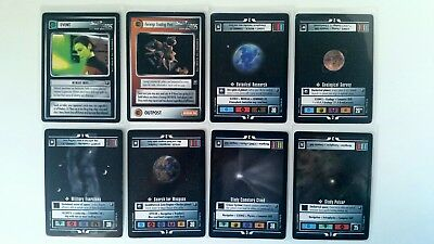 Star Trek CCG - Starter Deck II - Set of 8 Premium Cards - mint - Copyright 1998