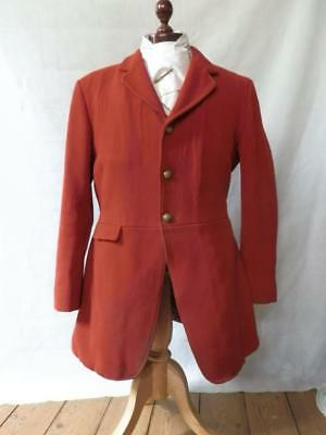 Vintage Harry Hall Huntsman's Coat - North Stafford Hunt Buttons And Storm Cuffs