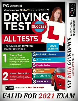 2019 Driving Theory Test Success All Tests And Hazard Perception PC DVD NEW ATpc