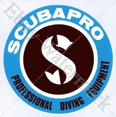 SCUBAPRO decal sticker Aufkleber Diving Tauchen Plongée Scuba Tank New