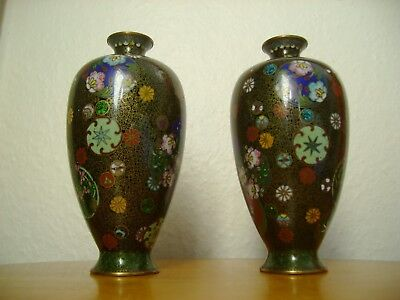 Japanese Meiji ? Stunning Pair Of Cloisonne Vases. Some Damage, But Beautiful.
