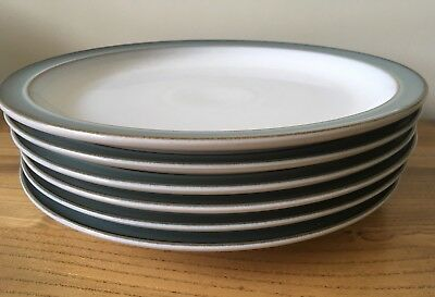 DENBY Regency Green Medium Plates Set Of 6