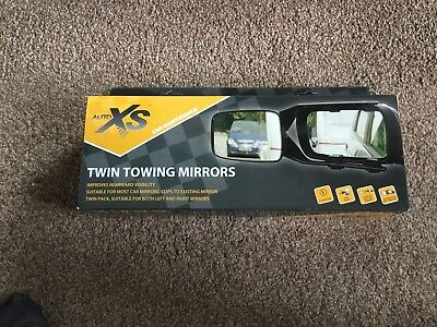 Twin Towing Mirrors by Auto XS Car Maintenance - New & Boxed