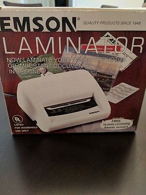 "EMSON  LAMINATOR, MODEL #2291, New in Box 4""X 6"" SIZE Photo and Doc Lamination"