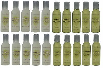 Crabtree & Evelyn Verbena & Lavender Shampoo & Conditioner Lot of 20(10 of each)