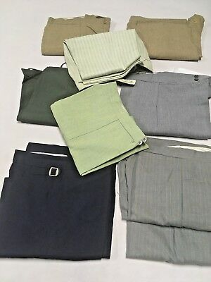 9 Pairs Assorted Sizes 1970s New Old Stock Polyester Unisex Pants Original Retro