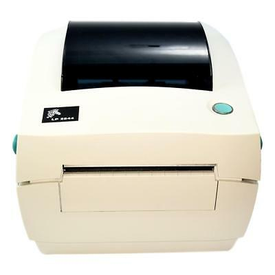 Zebra Thermal Label Printer LP 2844 with Pwr Supply & USB & Labels