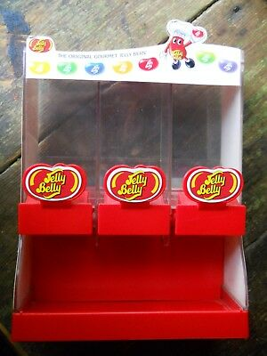 2007 Jelly Belly Gourmet Jelly Bean Candy Dispenser 3 Compartments