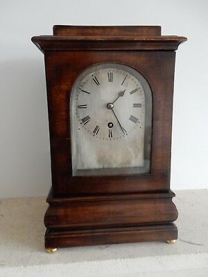 A Fine Small Four Glass Mahogany Fusee Library/Mantel Clock c1860