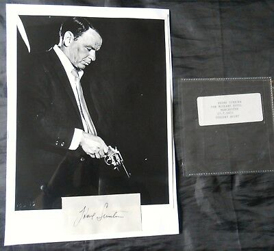 Frank Sinatra Hand Signed Piece By The Legendary Actor And Crooner In July 1953