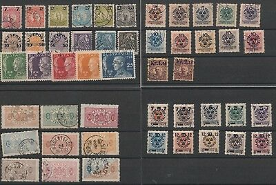 Sweden used selection of 49 stamps
