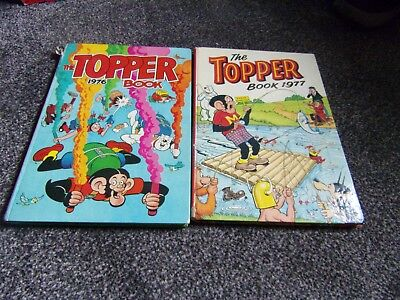 2 TOPPER annuals  1976 and 1977 DC Thomson