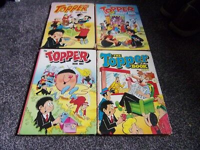 4 TOPPER annuals  1980. 1981. 1982 and 1984 DC Thomson