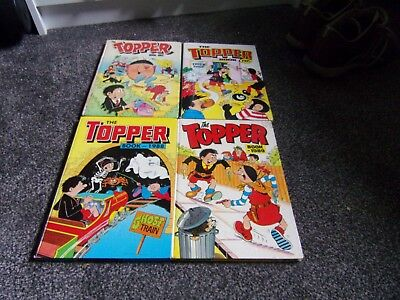 4 TOPPER annuals  1982. 1985. 1988 and 1989 DC Thomson