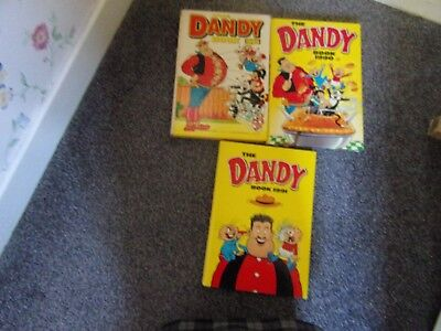 3 Dandy Annuals 1991, 90 And 1989- Dc Thomson