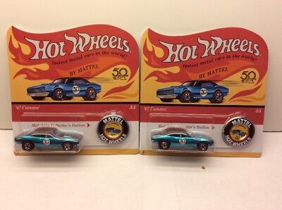 NEW Hot Wheels 50th Anniversary Originals Redlines  Set of 2 Cars '67 Camaro