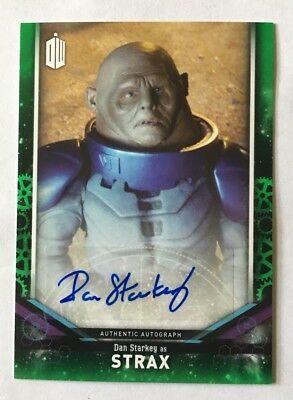 2018 Topps Doctor Who Signature Series Dan Starkey As Strax Green Auto 29/50