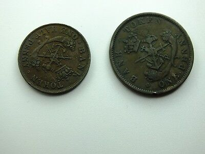 Lot of 4 Canadian Coins - 1800's - Upper Canada and Montreal Tokens