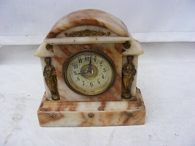 Vintage Style Marble  Clock  With Decorative Front