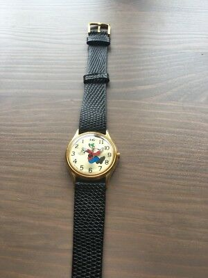 Vintage Lorus Disney Goofy backwards running watch, Never Worn!!