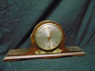 """vintage Gilbert mantle clock with glass dome face made in USA 17"""" x 8"""" x 2 1/2"""""""