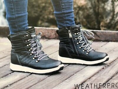 bfd6e2883eb6c6 NEW Weatherproof Ladies  Sneaker Boot SIZE 6 BLACK WATER REPELLENT ALEXA NIB