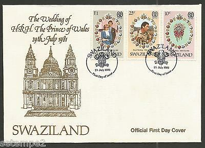 Swaziland FDC  Royal Wedding Price Charles Lady Diana