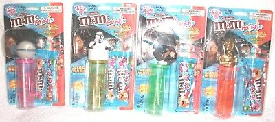 Star Wars M&M'S Minis Star Wars Mix Toy And Pogo  Dispenser Episode III Lot Of 4