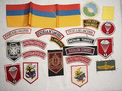 Lot Of 1960s Colombian Special Forces Lancero Patches Airborne Ranger Etc