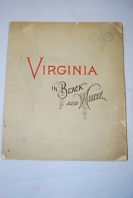 """Early C&O Ry guide 1893  """"Virginia in Black & White"""""""