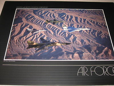 A-10 warthog, F-16 falcon, F-111 and F-18 Fighter weapons School USAF photo