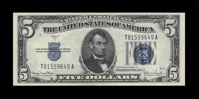1934-D United States Silver Certificate $5 (( Ef+ ))