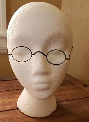 Antique Vintage Old Oval Spectacles Eyeglasses Wire Metal Tin Rim