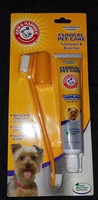 Arm & Hammer Clinical Pet Care Dental Gum Health Toothpaste & Brush Set for Dogs