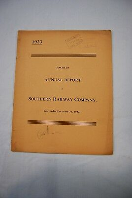 Southern Railway Co. Annual Report 1933