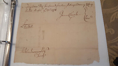 Document Revolutionary War Pay Table 1778