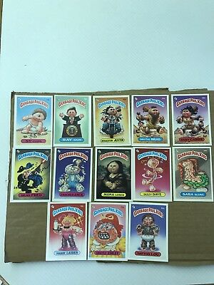 Garbage Pail Kids 2nd Series Lot Of 13 Cards Mix Of Matte And Glossy Excellent