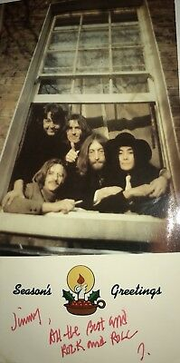 Vintage Beatles Christmas card. I was told this could be Signed By John Lennon