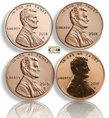 2018 S Reverse Proof, Proof P,D Rare only 200K Minted Lincoln's