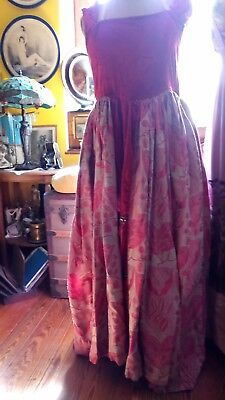 Robe Ancienne 1920 1925 1930  Theatre Musichall French Cancan Art Deco