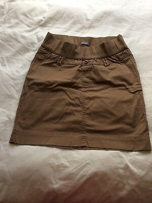 Gap Maternity Skirt Brown Size Gap 10 (UK 14?) Worn Twice Excellent Condition