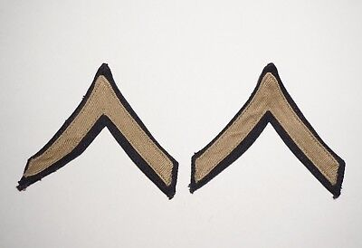 PFC Private Rank Chevrons Multi Piece Twill Patches WWII US Army P7829